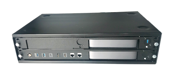 2U Desktop Rack with Mac mini rack mount