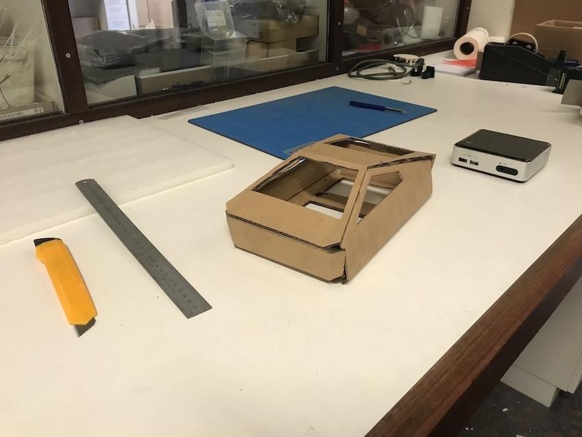 Cardboard CyberNUC glued