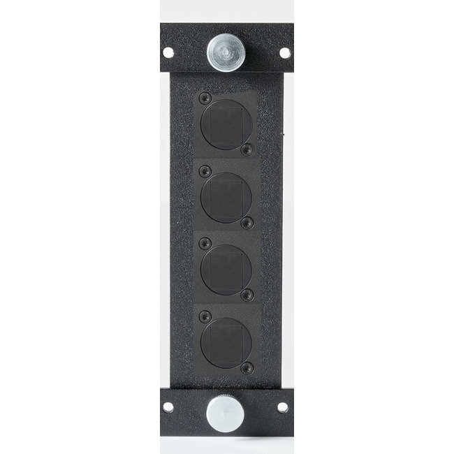 Connector plate for 3U 19inch RackMount for 4 connectors