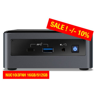 Intel NUC10i3FNH 16GB/512GB
