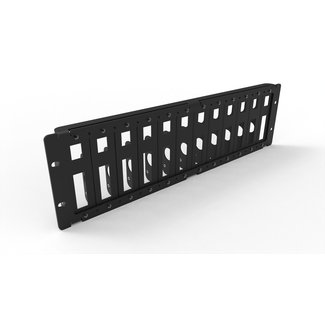 19 inch rack mount 3U for 12x RASPBERRY Pi all models B (1-4)
