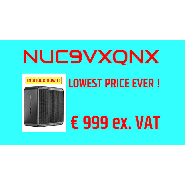 Intel NUC 9 Pro Kit NUC9VXQNX Quartz Canyon  AANBIEDING
