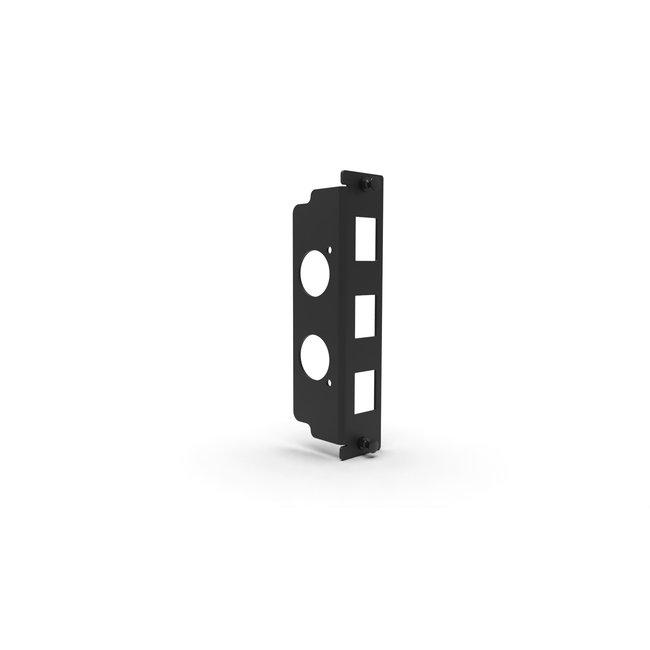 I/O panel 3-slots for 3U Raspberry Pi rack mount