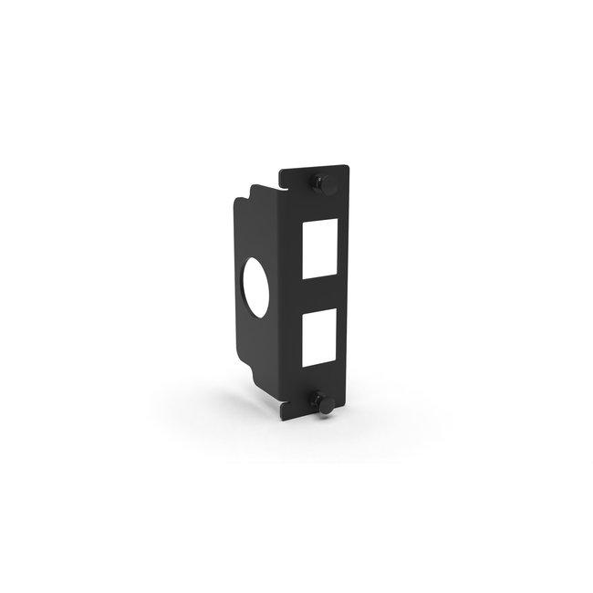 I/O panel 2-slots for 2U Raspberry Pi rack mount