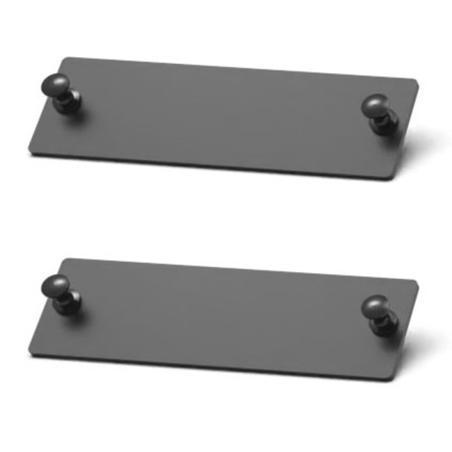 2 Blank covers for Front-removable Raspberry Pi rack mount 1-5