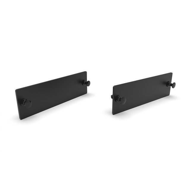 Set of 2x Blank cover for 19 inch rack mount 3U for 12x Jetson FRONT REMOVABLE