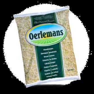 Oerlemans Uienblokjes, 2.5 kg, Oerlemans