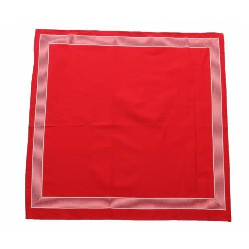 Boeren zakdoek Rood uni 55 x 55 cm
