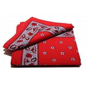 Boeren zakdoek rood  Bloem 55 x 55 cm