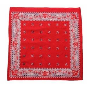 Boeren zakdoek rood kleine Bloem 43 x 43 cm