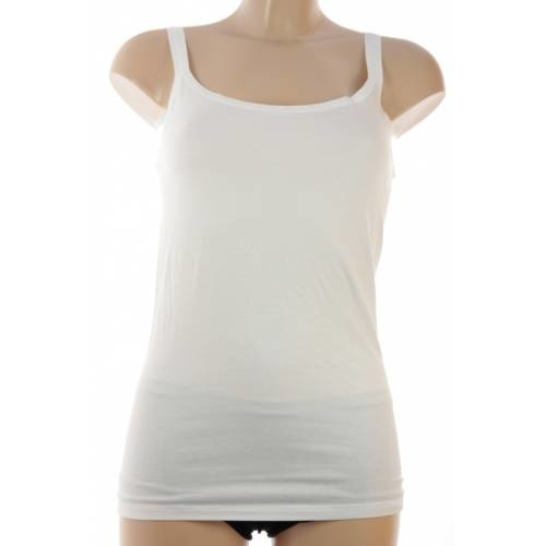 Scholler hemd, viscose/katoen, smal bandje