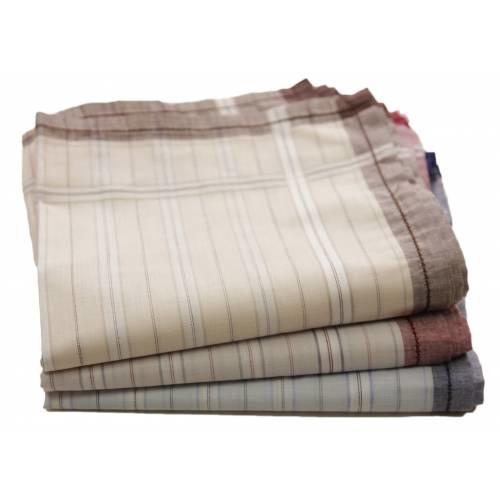 Swan Heren zakdoeken witte streep 12 stuks
