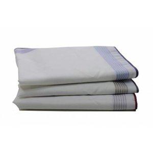 Swan Swan Heren zakdoeken, White Blue, 6 stuks