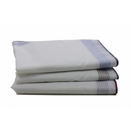Swan Heren zakdoeken, White Blue, 6 stuks