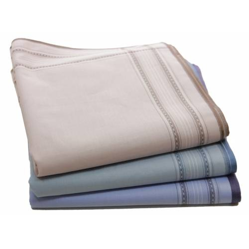 Tiseco Heren zakdoeken dikke kwaliteit 1B 12 stuks