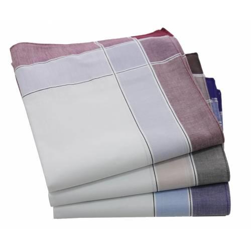 Tiseco Heren zakdoeken, dikke kwaliteit, 12 stuks