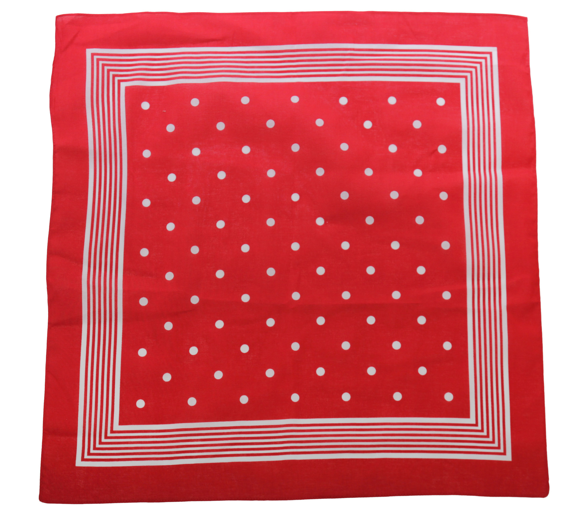 Tiseco Boeren zakdoek rood stippel 55 x 55 cm