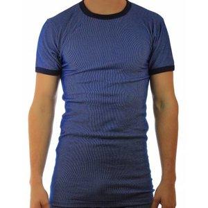 Beeren ondergoed Beeren hemd korte mouw, blauwe streep M2000