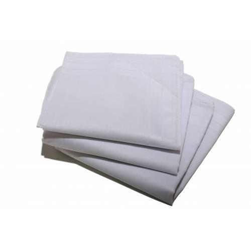 Dames zakdoeken wit 12 stuks