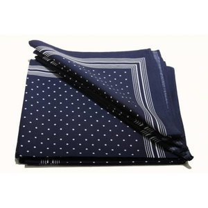 van Gelderen Boeren zakdoek Blauw kleine stippel 54 x 54 cm