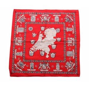 Boeren zakdoek rood Nederland 55 x 55 cm