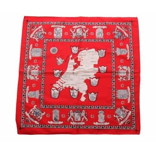 van Gelderen Boeren zakdoek rood Nederland 55 x 55 cm