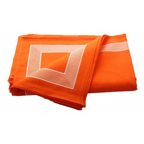 Boeren zakdoek Oranje uni 58 x 58 cm