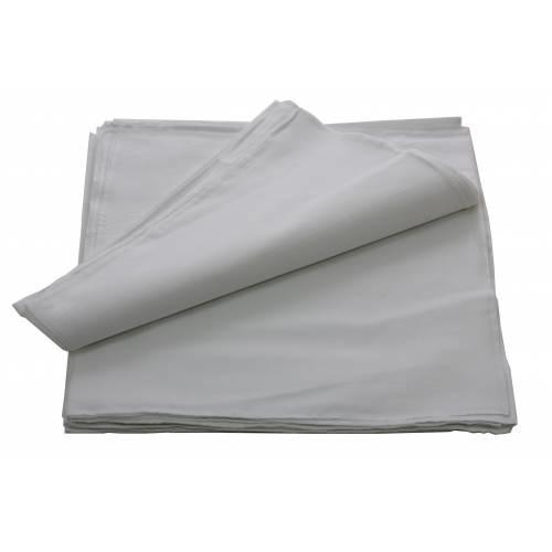 Boeren zakdoek wit uni 55 x 55 cm