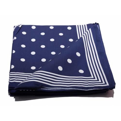 Boeren zakdoek Blauw stippel 54 x 54 cm