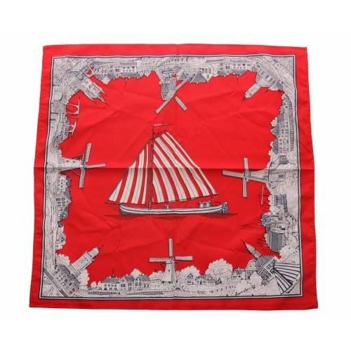 van Gelderen Boeren zakdoek rood  Oud nederland 54 x 54 cm