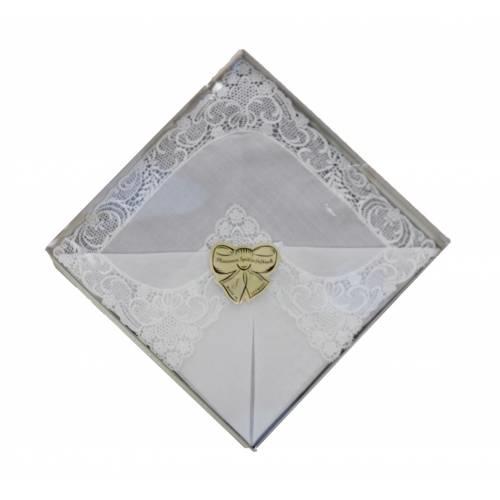 Bugatti dames zakdoek met echte kant