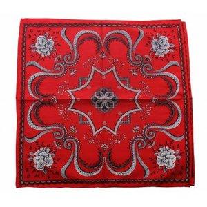 van Gelderen Boeren zakdoek rood Flower 53 x 53 cm
