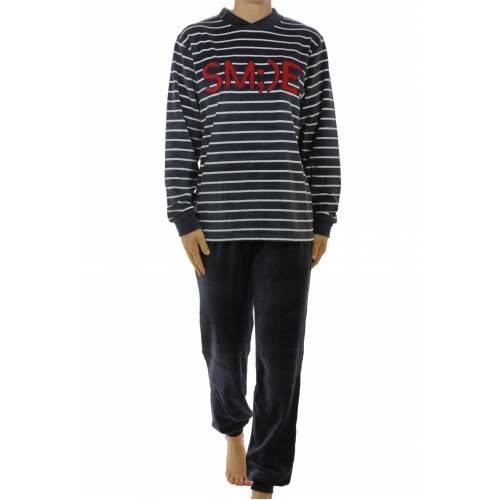 "Lunatex velours meiden pyjama ""Smile"""
