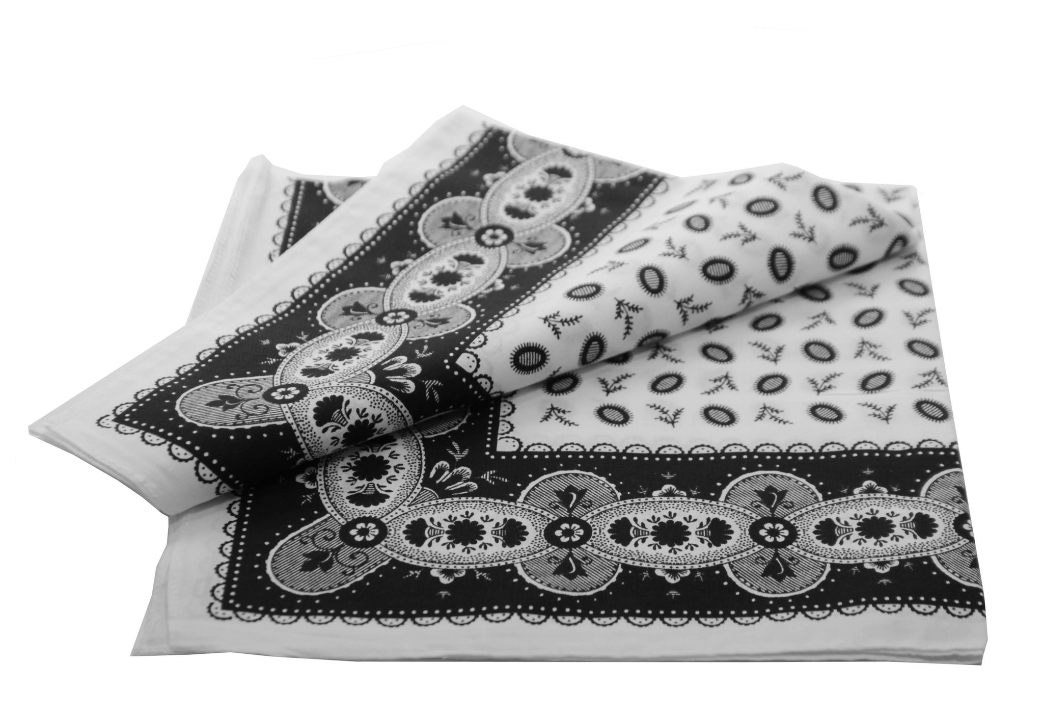 Boeren zakdoek Koffieboon zwart 55 x 55 cm