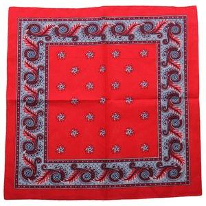 Boerenzakdoek Harlekijn rood  55 x 55 cm