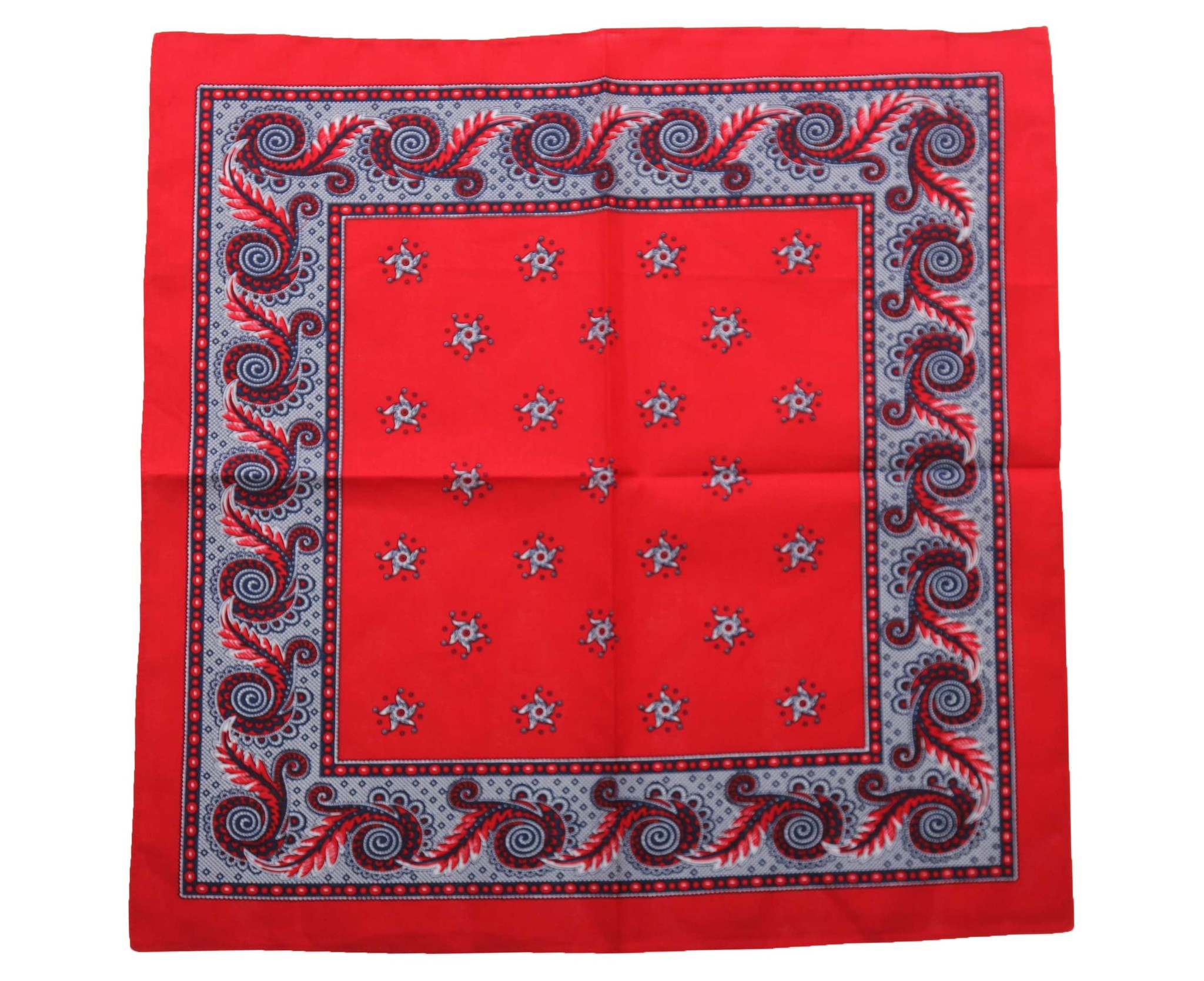 Harlekijn zakdoek rood 55 x 55 cm