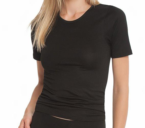 Nina von C dames T-shirt biologisch katoen zwart