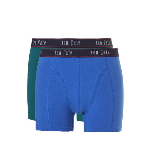Ten Cate ondergoed Ten Cate Fine Heren Short Green 2-Pack