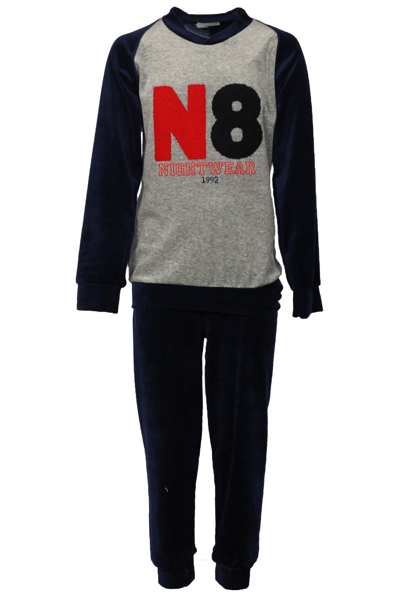Gentlemen jongens velours pyjama N8