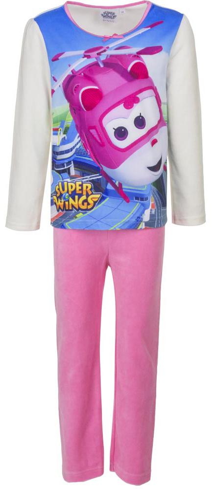 Disney meisjes velours pyjama Super Wings Wit 2134