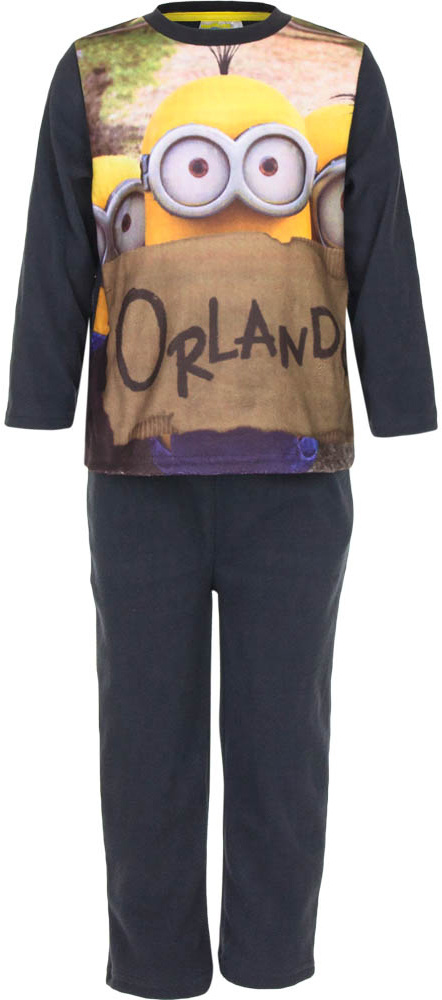 Disney jongens Fleece pyjama Minions antraciet 2106