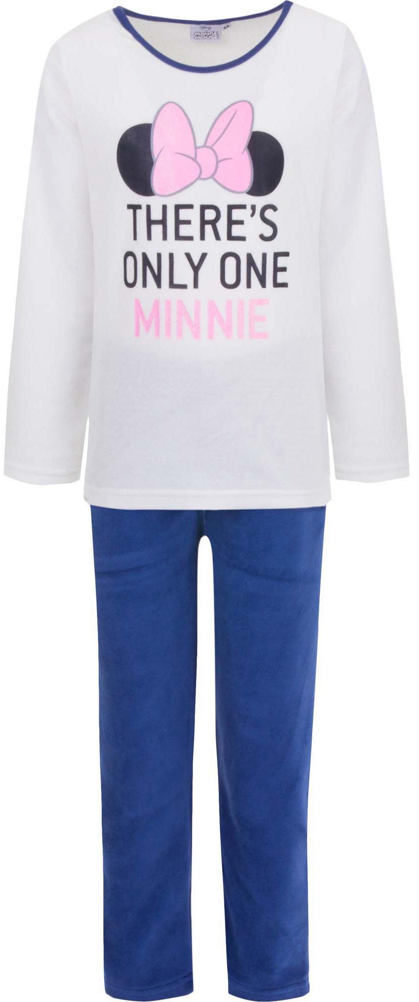 Disney meisjes velours pyjama Minnie Mouse wit 2007