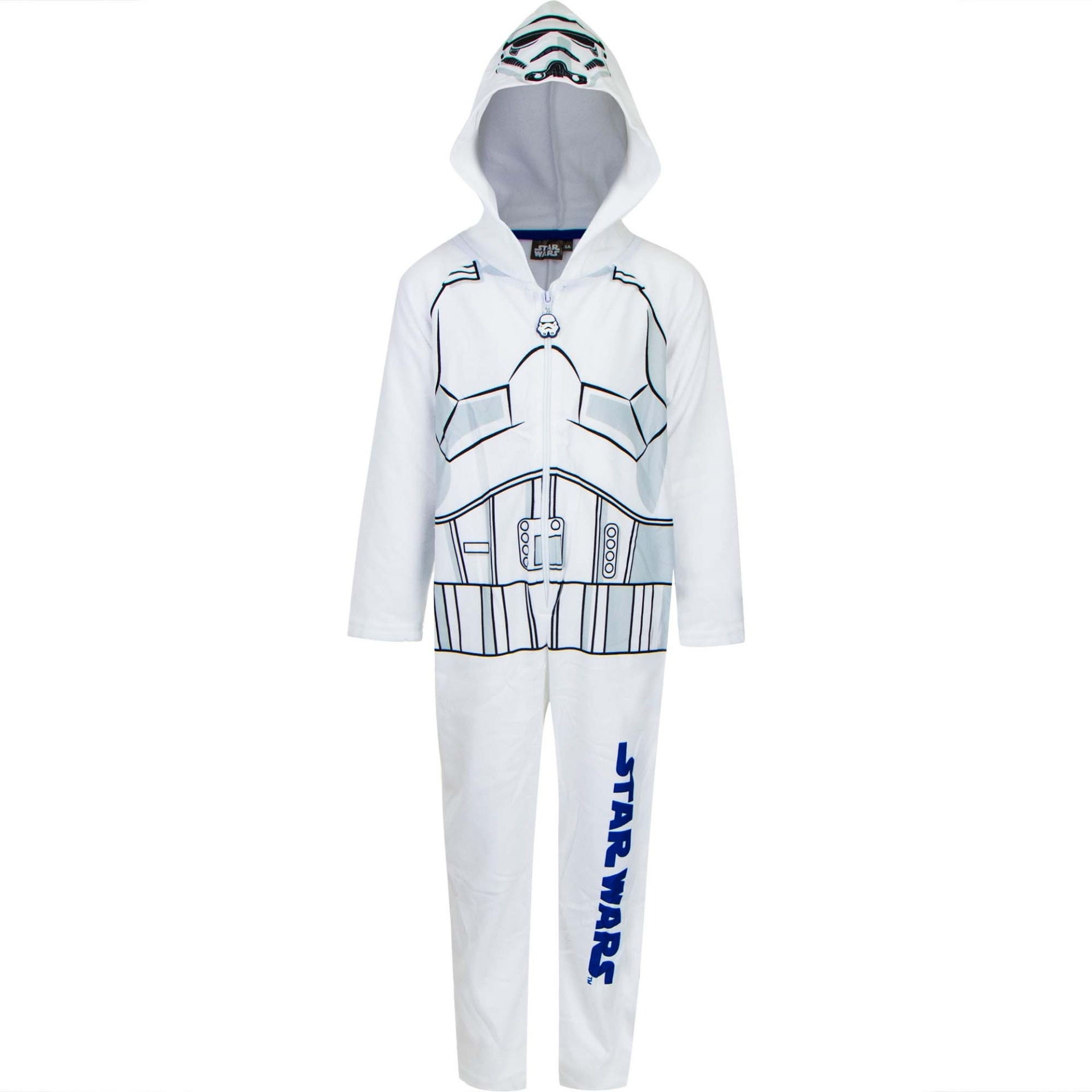 Disney jongens Fleece onesie Star Wars wit 9008