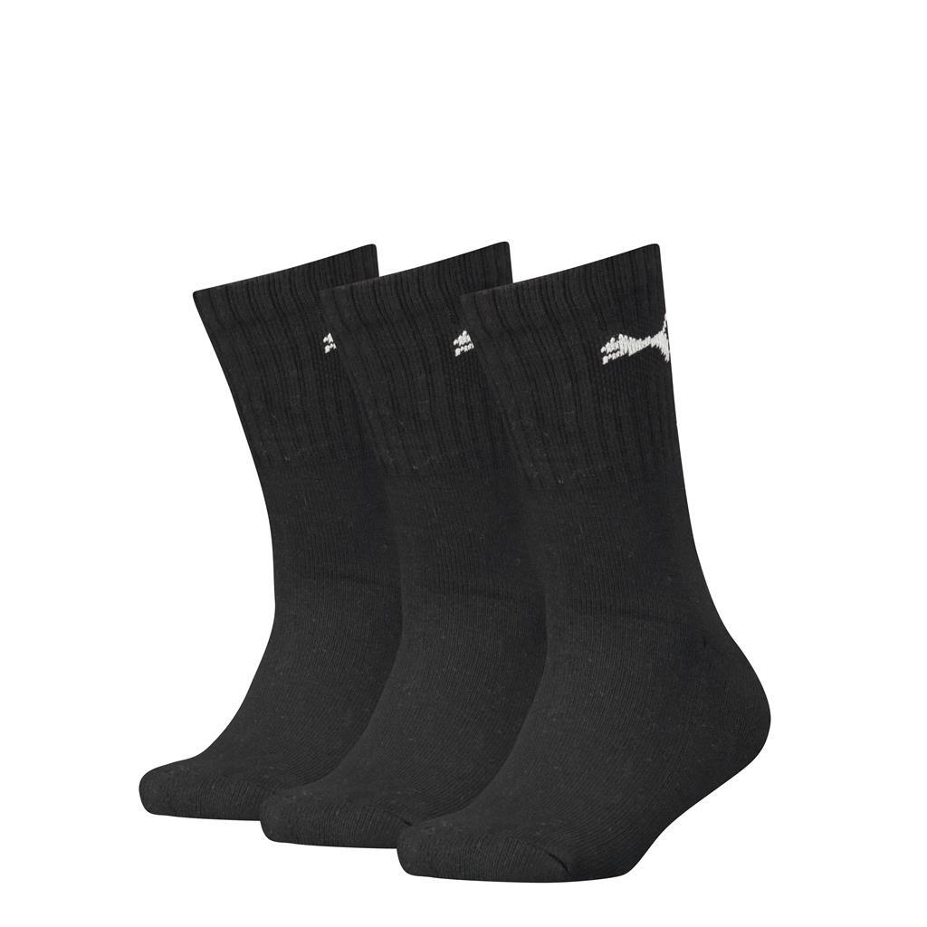 Puma kinder sport sokken - zwart 3-pack