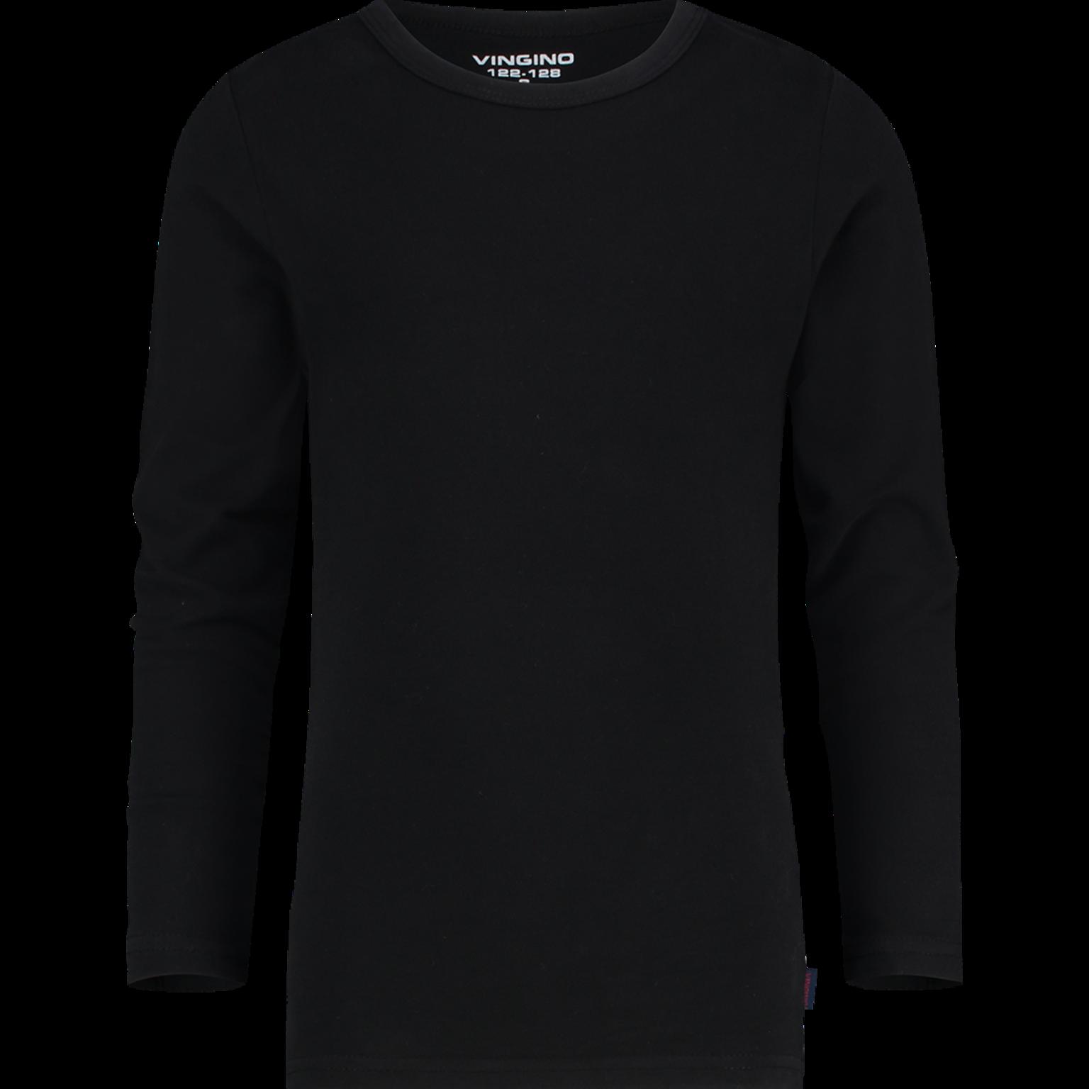 Vingino jongens T-shirt lange mouw - 72203 - zwart