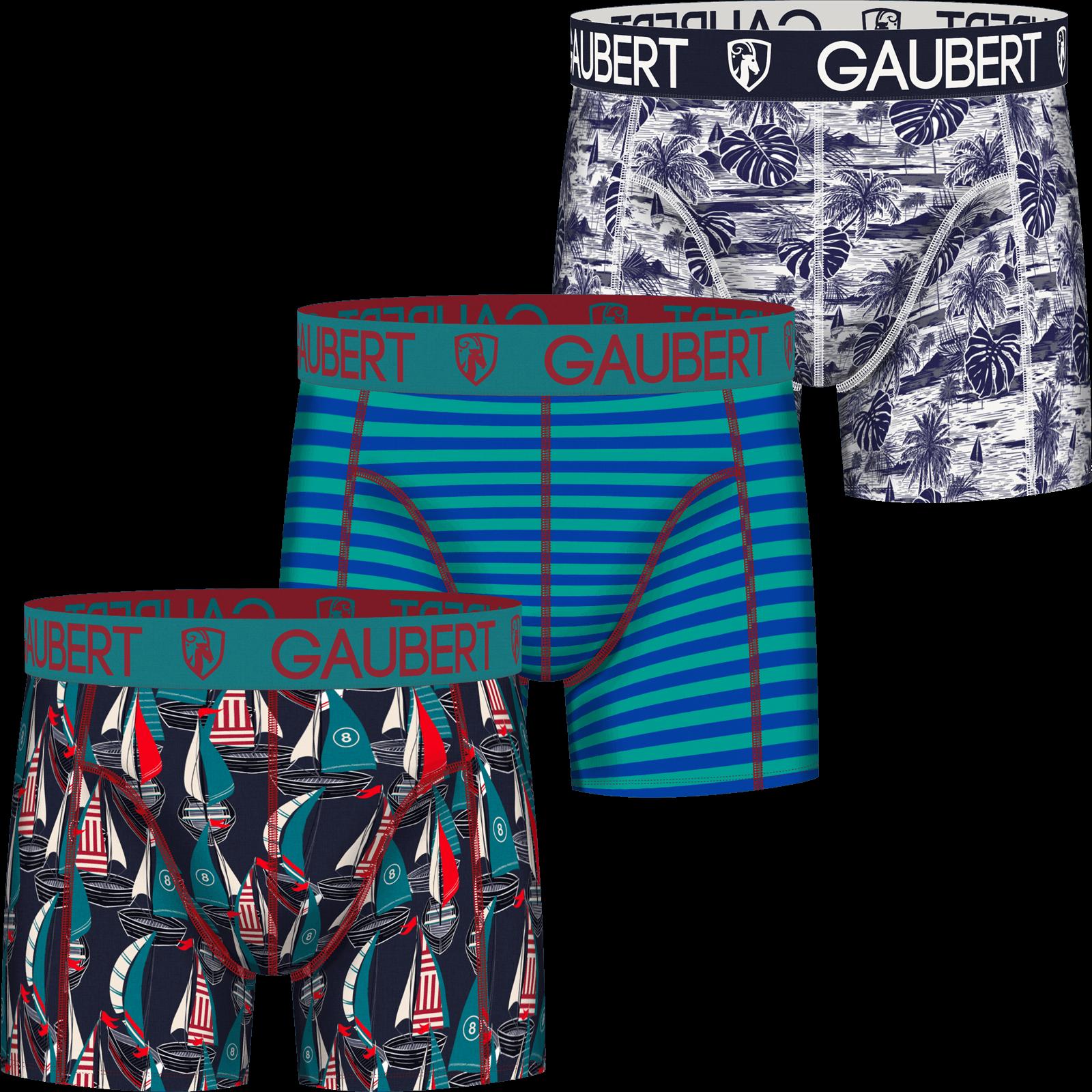 Gaubert Heren boxershort Katoen 3-pack Sailing