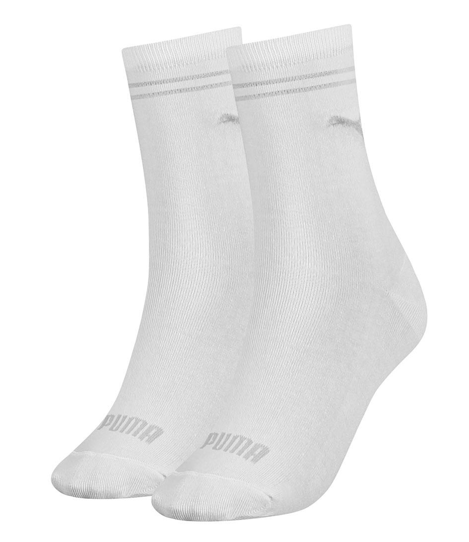 Puma classic dames sokken 2-paar - Wit