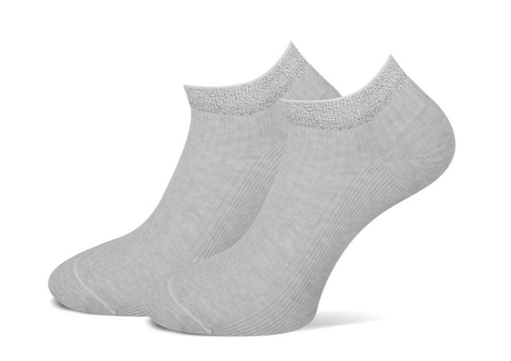 Marcmarcs korte sneaker sokken Glitter 2 paar