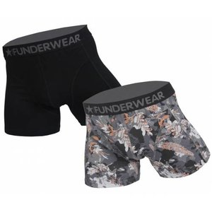 Funderwear ondergoed Funderwear heren short 2 pack Grey Leaves