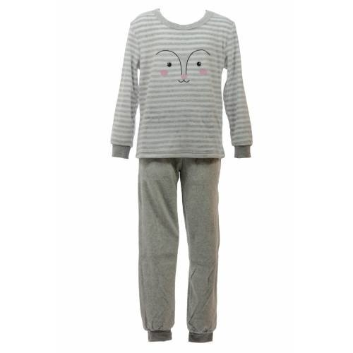 Cocodream Cocodream velours meiden pyjama Happy Face